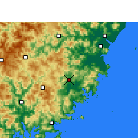 Nearby Forecast Locations - 福鼎 - 图